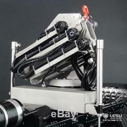 LESU 1/14 Scale RC Model Hydraulic Truck Crane With Control Valve Oil Pump Dumper