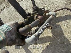 Massey Ferguson TO35 tractor external hydraulic valve control assemly with outlets