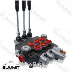 Monoblock Hydraulic Directional Control Valve, 3 Spool, with Single Float, 21 GPM