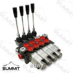 Monoblock Hydraulic Directional Control Valve, 4 Spool, 4 Float, 11 GPM