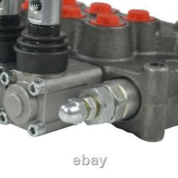 NEW 5 Spool Hydraulic Directional Control Valve 11gpm Adjustable Relief Valve