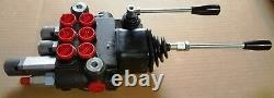 New 3 Spool Hydraulic Control Valve With Joystick And Float Spool / 10 Gpm