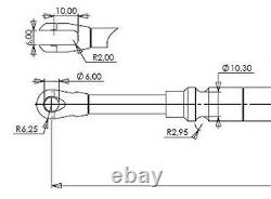 Remote cable control Indemar joystick ID-3335 for hydraulic spool valves