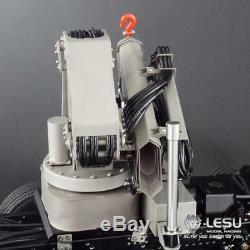 US Stock LESU 1/14 Hydraulic Truck Crane With Control Valve Oil Pump Dumper