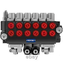 VEVOR 6 Spool 11 GPM Hydraulic Directional Control Valve Loader with 2 Joysticks