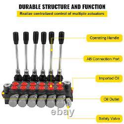 VEVOR 6 Spool Hydraulic Directional Control Valve 11gpm 40L/min 3600psi