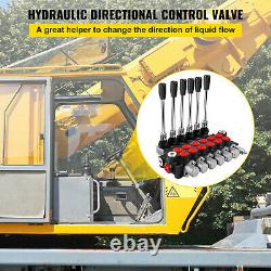 VEVOR Hydraulic Directional Control Valve Hydraulic Spool Valve 6 Spool 11 GPM